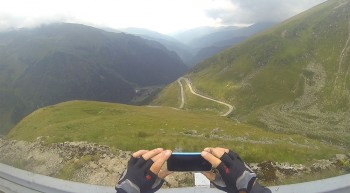 Auf der Abfahrt vom Balea Pass.