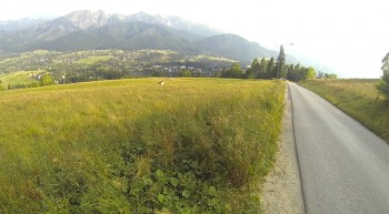 Abfahrt nach Zakopane mit Blick auf die Hohe Tatra!
